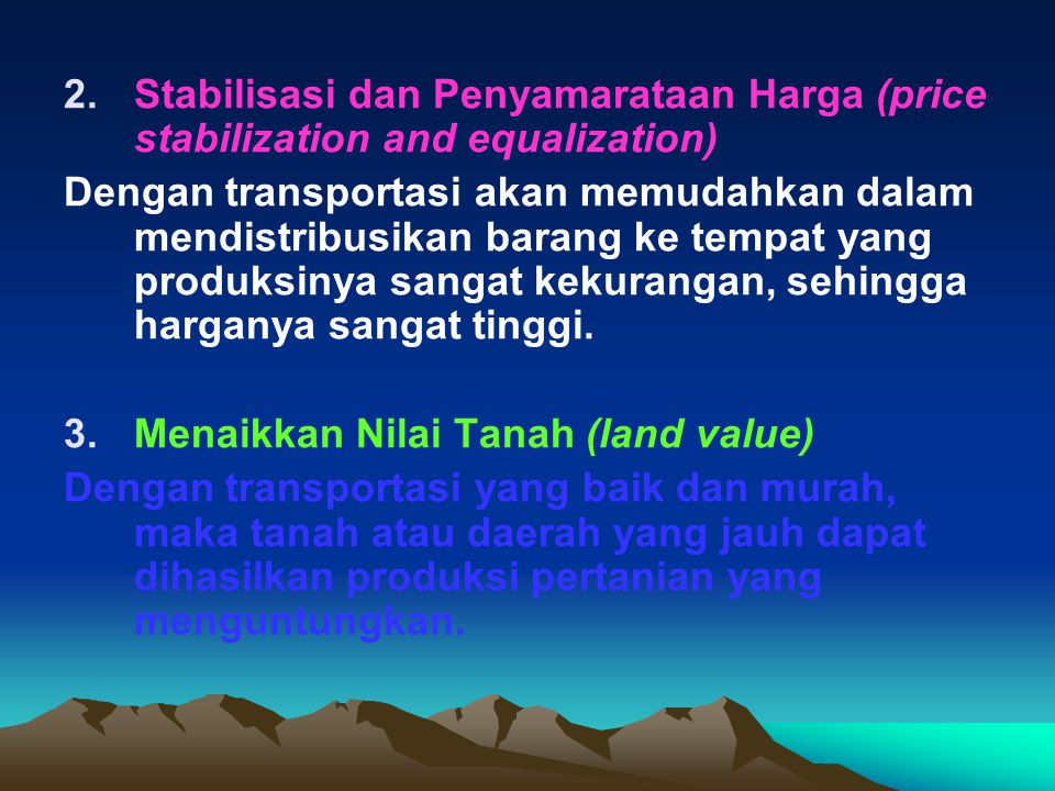 Stabilisasi dan Penyamarataan Harga (price stabilization and equalization)