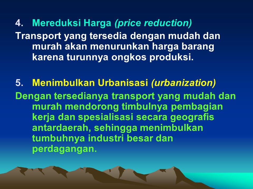Mereduksi Harga (price reduction)