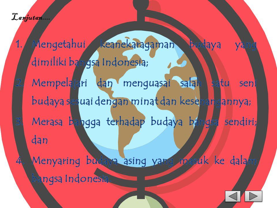 Mengetahui keanekaragaman budaya yang dimiliki bangsa Indonesia;