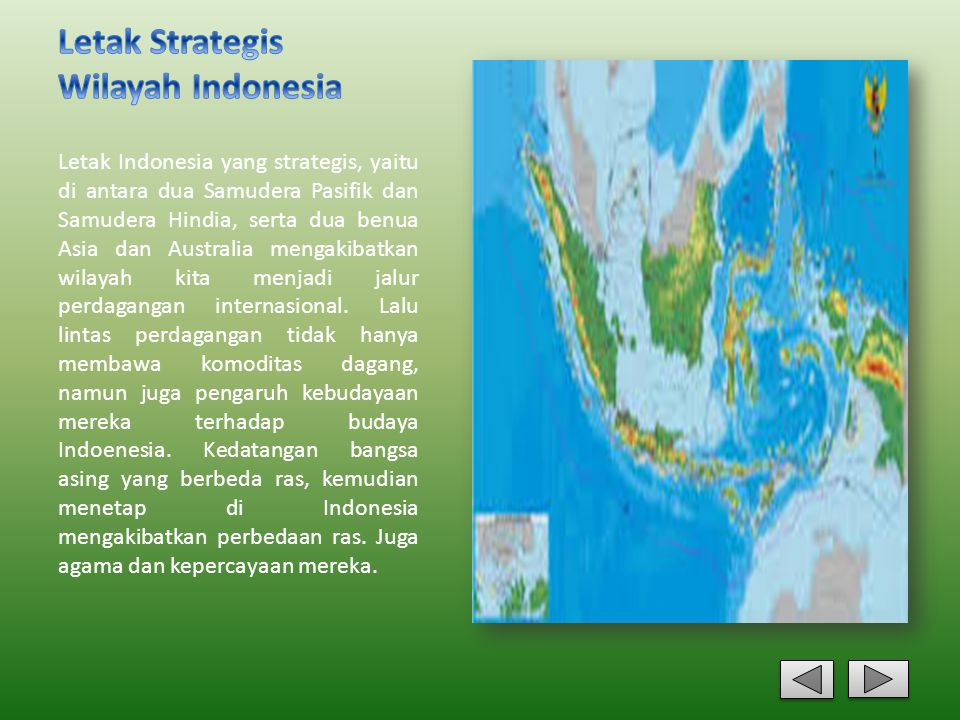 Letak Strategis Wilayah Indonesia