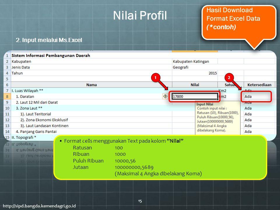 Nilai Profil Hasil Download Format Excel Data (*contoh)