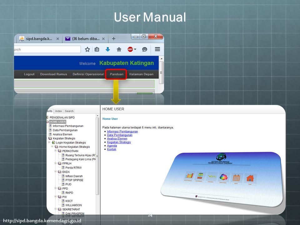 User Manual http://sipd.bangda.kemendagri.go.id