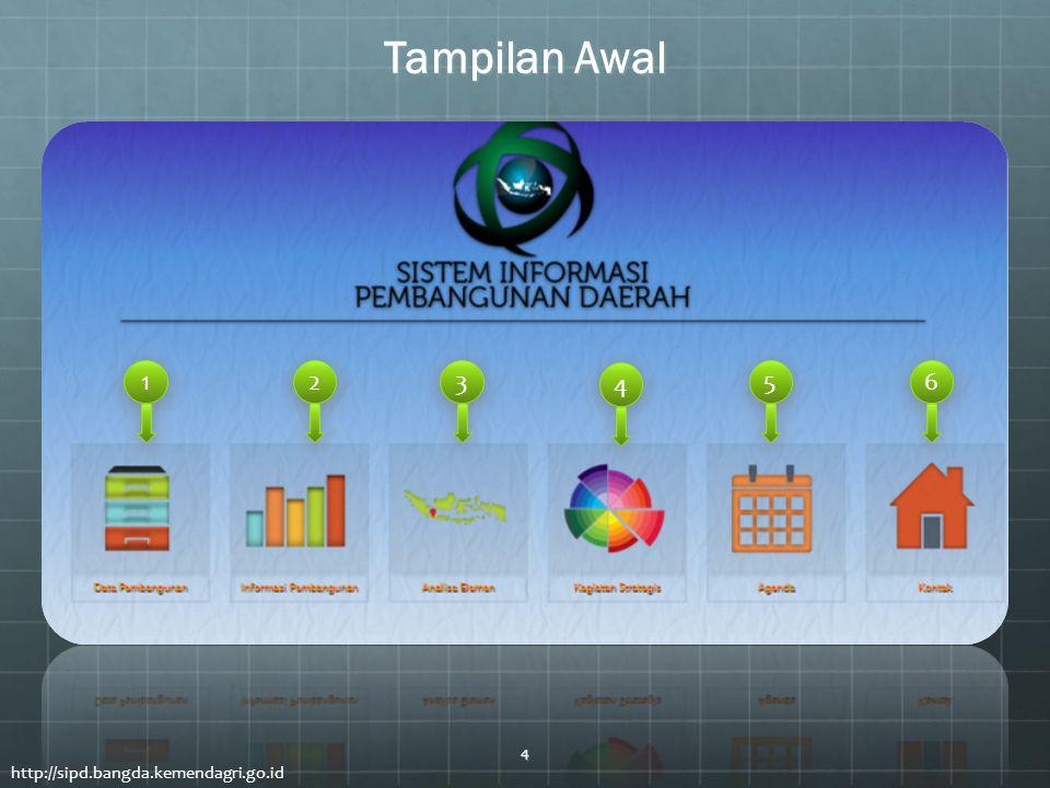 Tampilan Awal 1 2 3 4 5 6 http://sipd.bangda.kemendagri.go.id