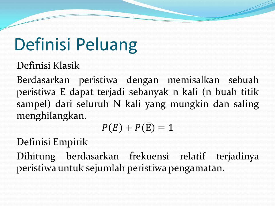 Definisi Peluang