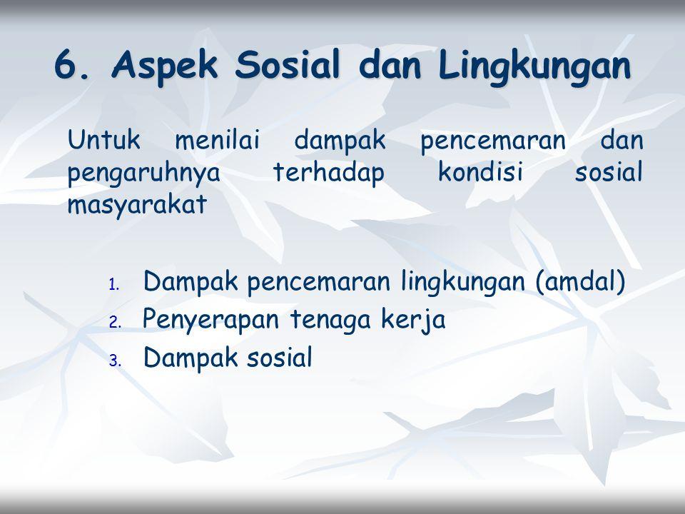 6. Aspek Sosial dan Lingkungan