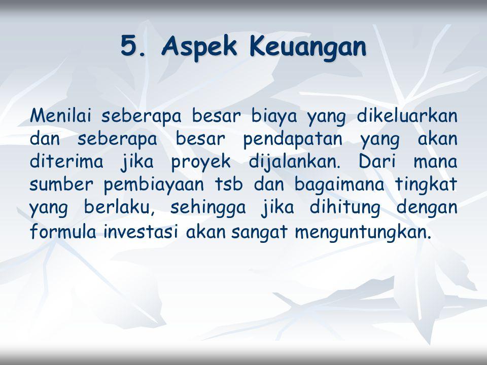 5. Aspek Keuangan