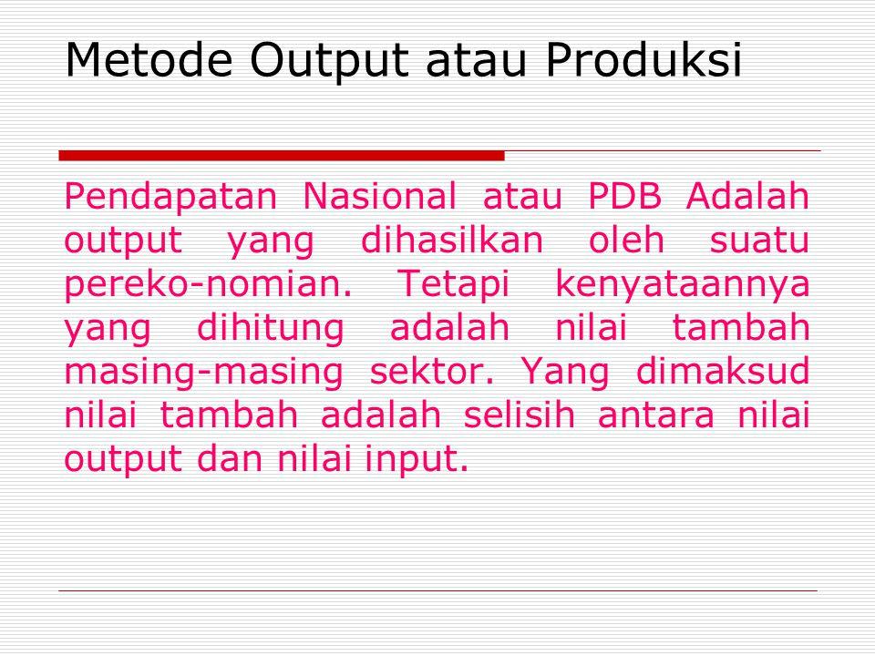 Metode Output atau Produksi