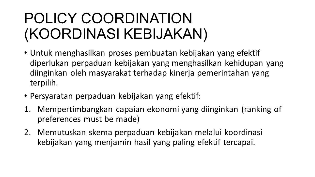 POLICY COORDINATION (KOORDINASI KEBIJAKAN)