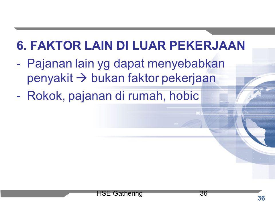 6. FAKTOR LAIN DI LUAR PEKERJAAN