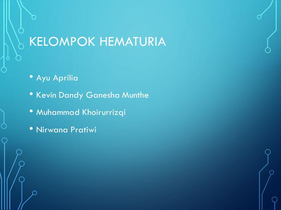 Kelompok Hematuria Ayu Aprilia Kevin Dandy Ganesha Munthe
