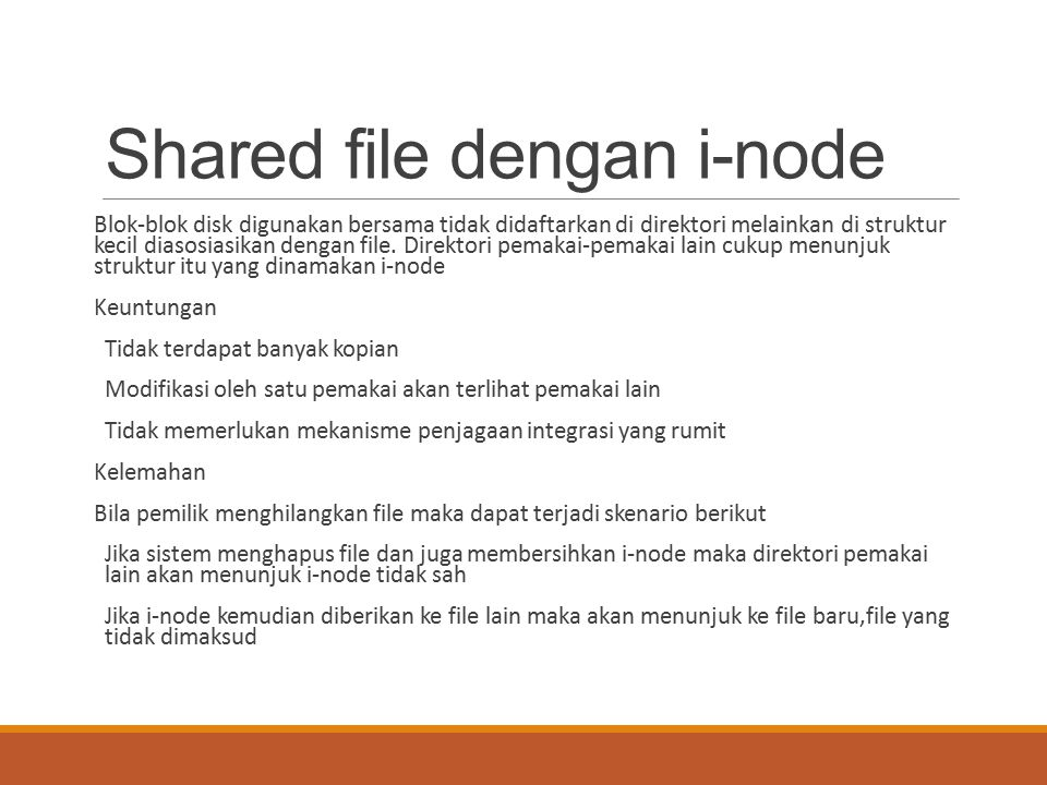 Shared file dengan i-node