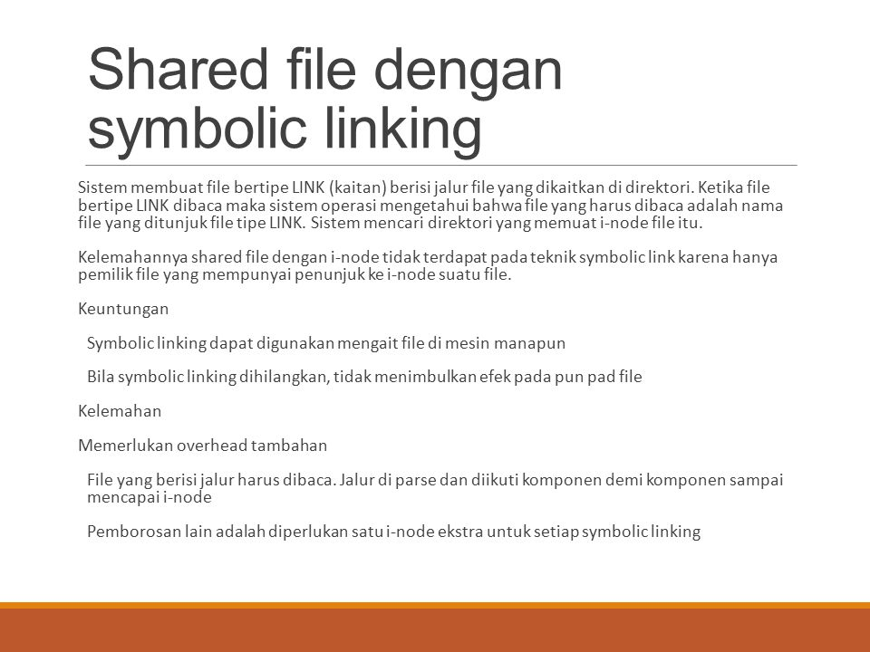 Shared file dengan symbolic linking