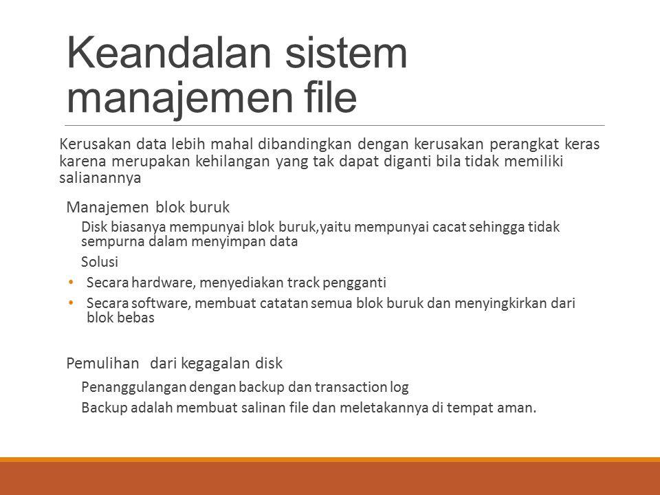 Keandalan sistem manajemen file