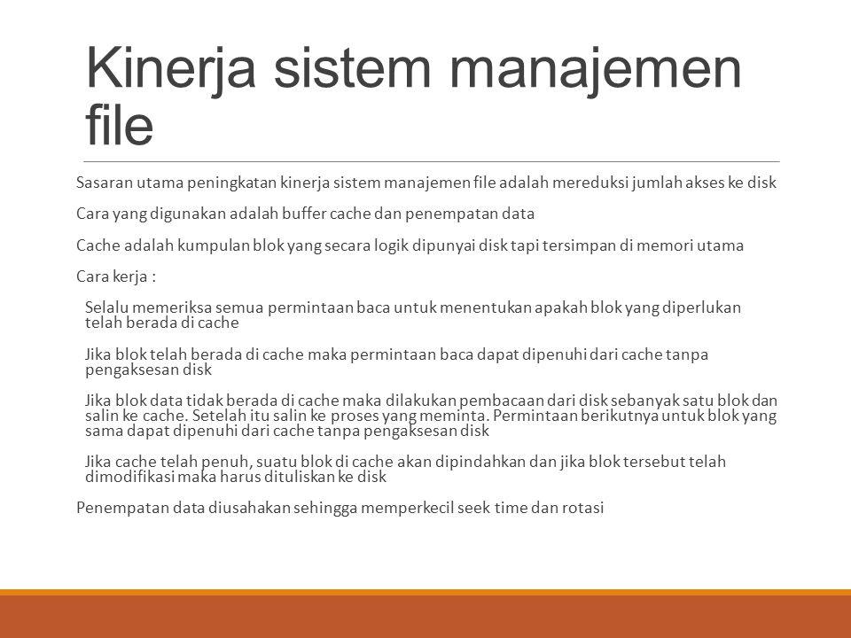 Kinerja sistem manajemen file