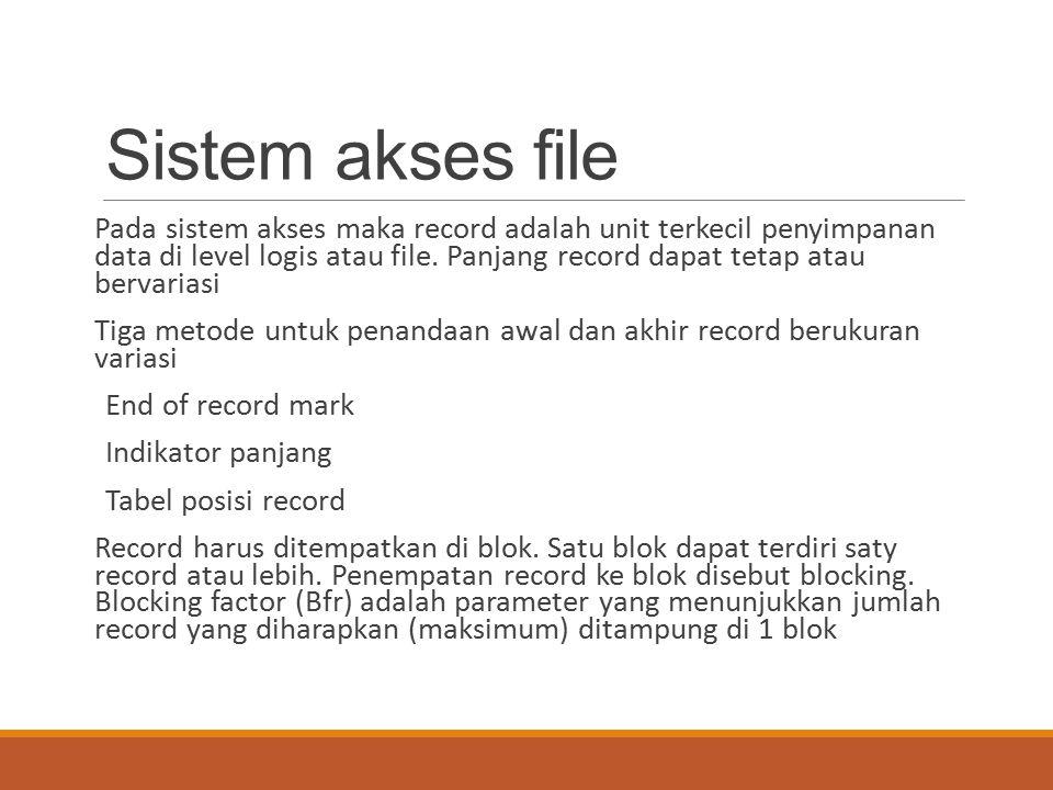 Sistem akses file
