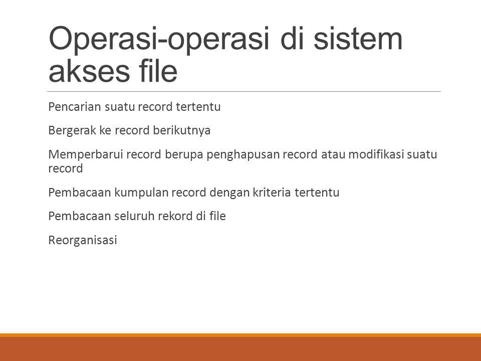 Operasi-operasi di sistem akses file