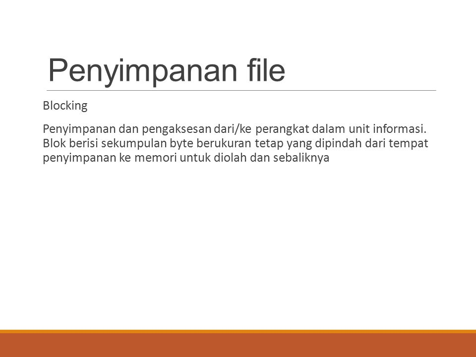 Penyimpanan file Blocking