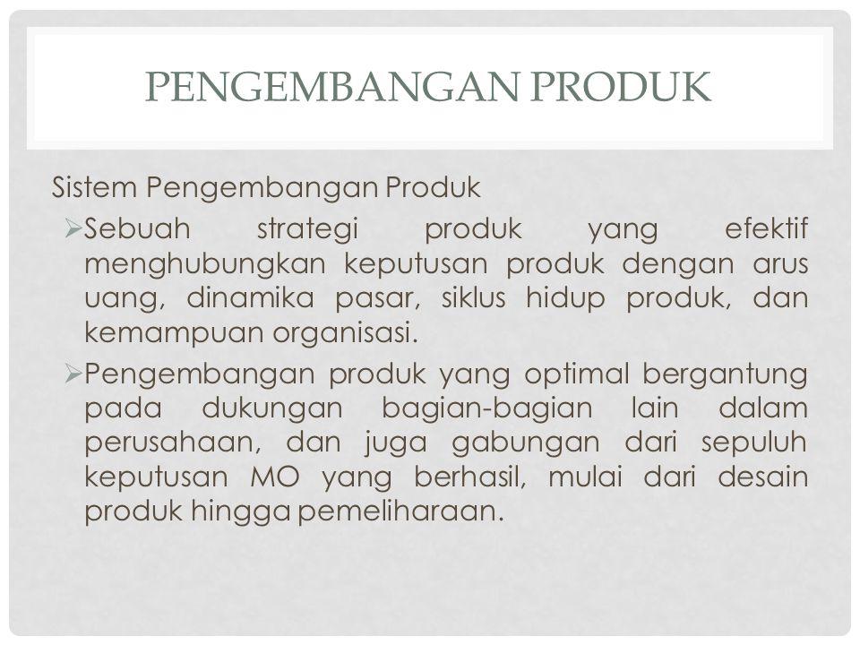 Pengembangan Produk Sistem Pengembangan Produk