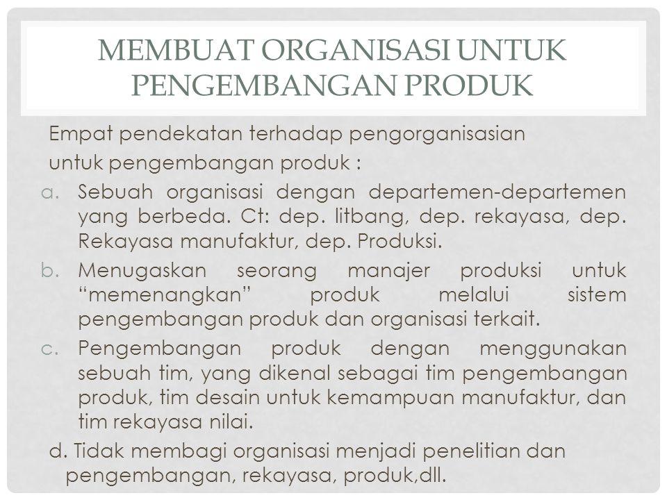 Membuat Organisasi untuk Pengembangan Produk