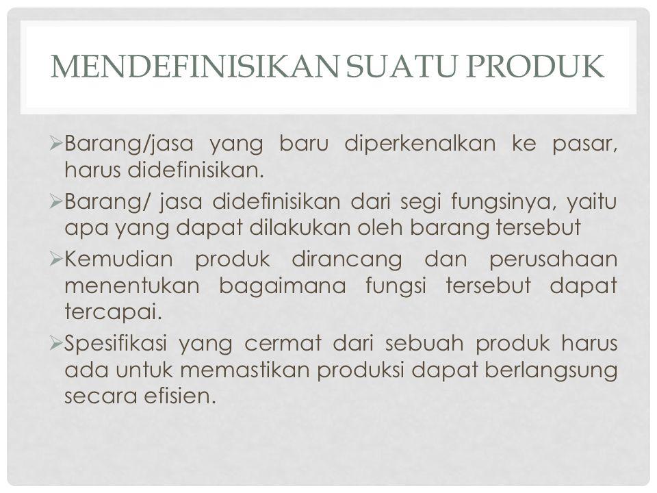 Mendefinisikan Suatu Produk