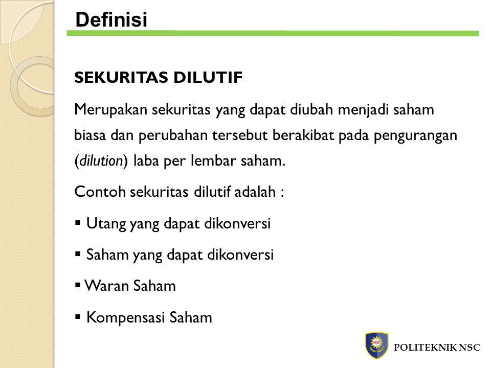 Definisi SEKURITAS DILUTIF