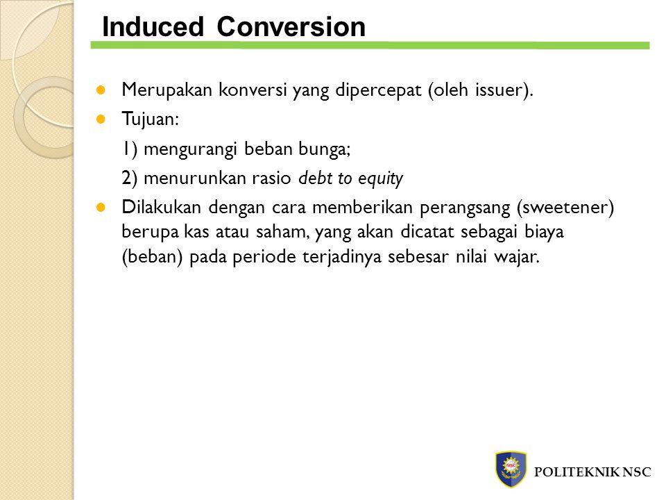 Induced Conversion Merupakan konversi yang dipercepat (oleh issuer).