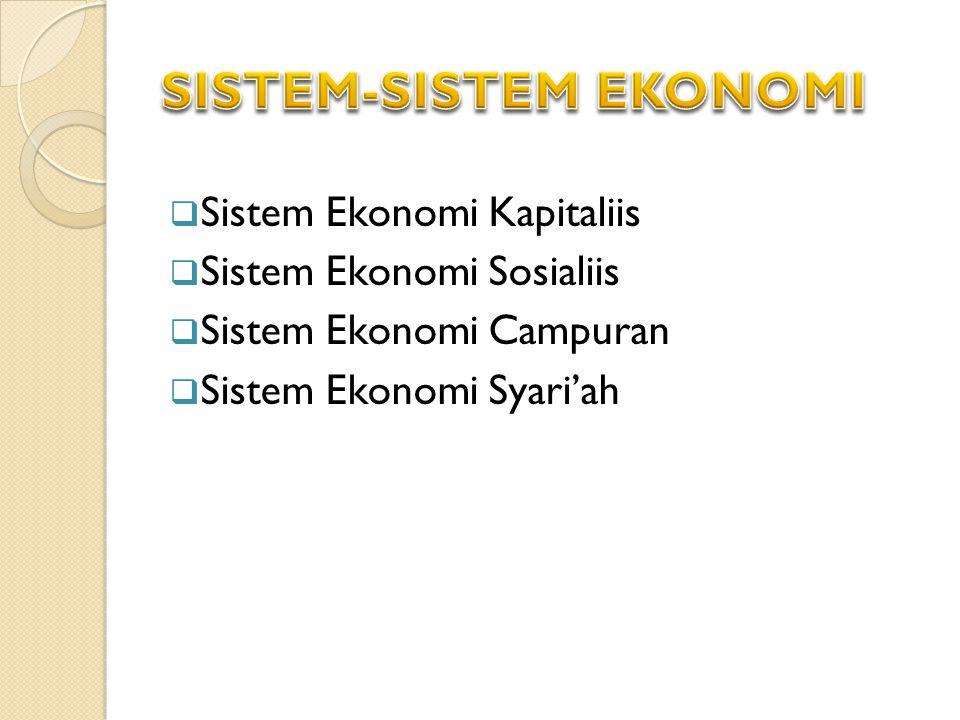SISTEM-SISTEM EKONOMI