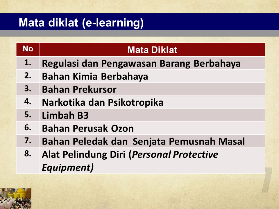 Mata diklat (e-learning)