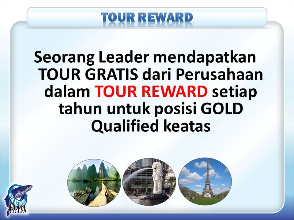 TOUR REWARD Seorang Leader mendapatkan TOUR GRATIS dari Perusahaan dalam TOUR REWARD setiap tahun untuk posisi GOLD Qualified keatas.
