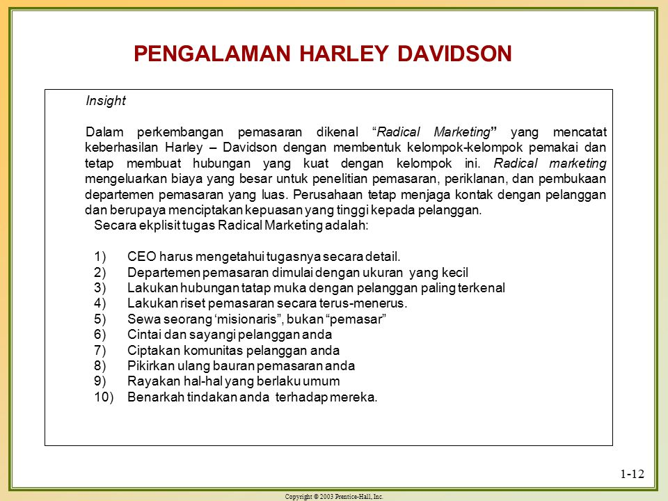 PENGALAMAN HARLEY DAVIDSON