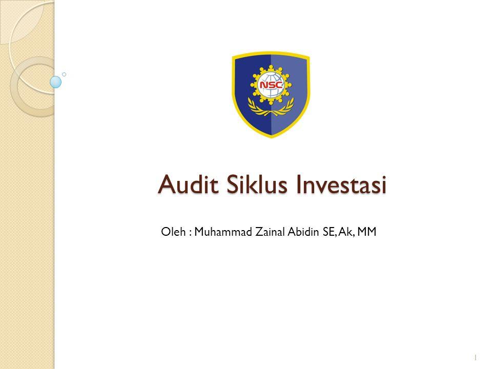 Audit Siklus Investasi