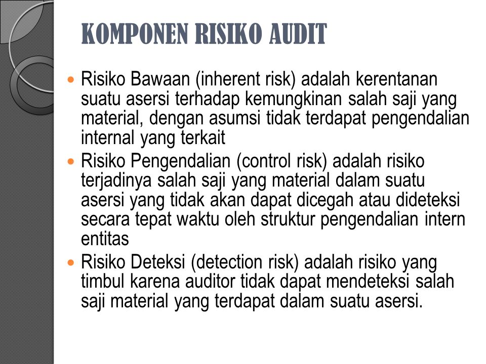 KOMPONEN RISIKO AUDIT