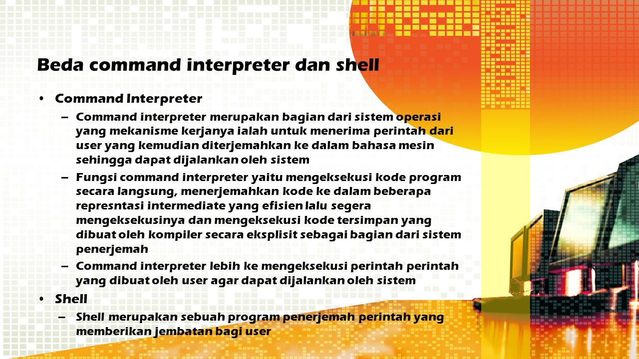 Beda command interpreter dan shell