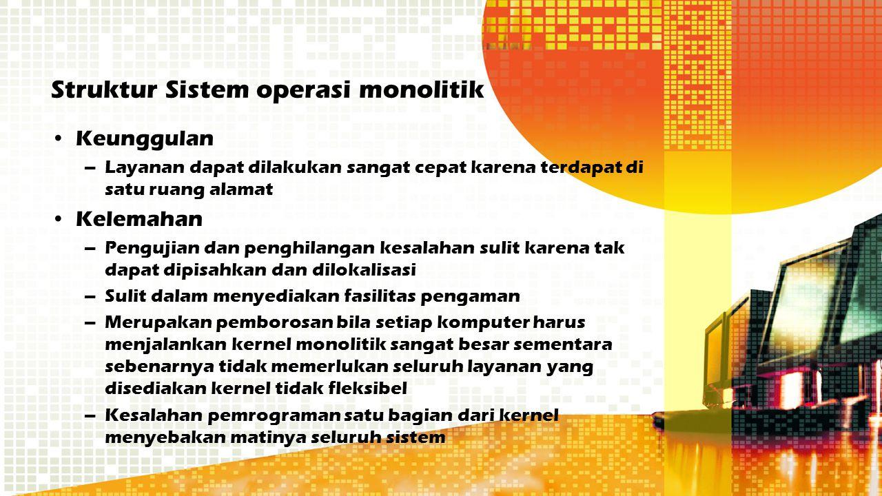 Struktur Sistem operasi monolitik