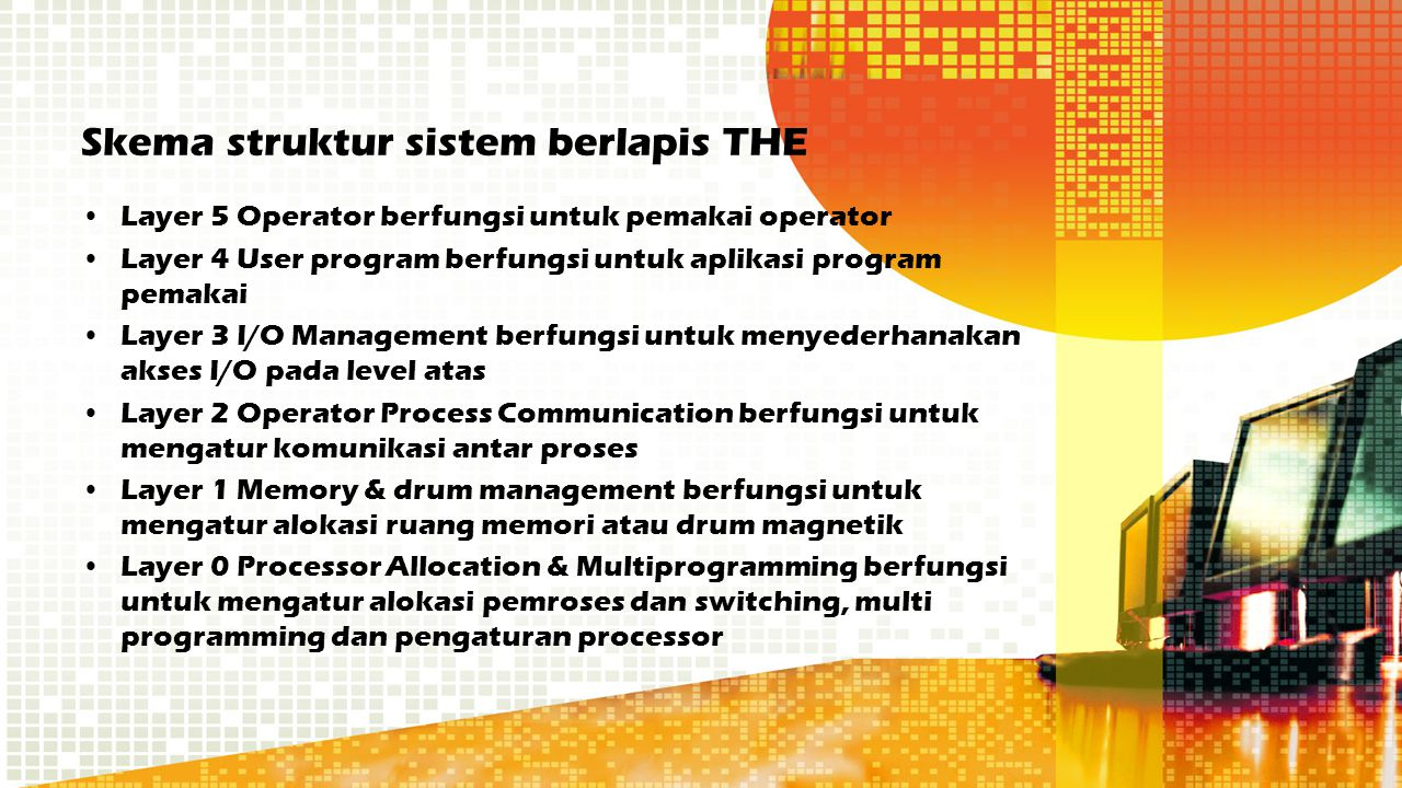 Skema struktur sistem berlapis THE