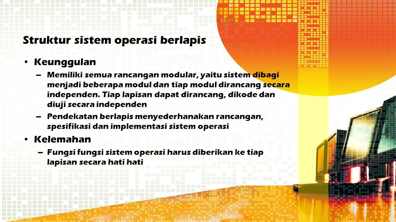 Struktur sistem operasi berlapis