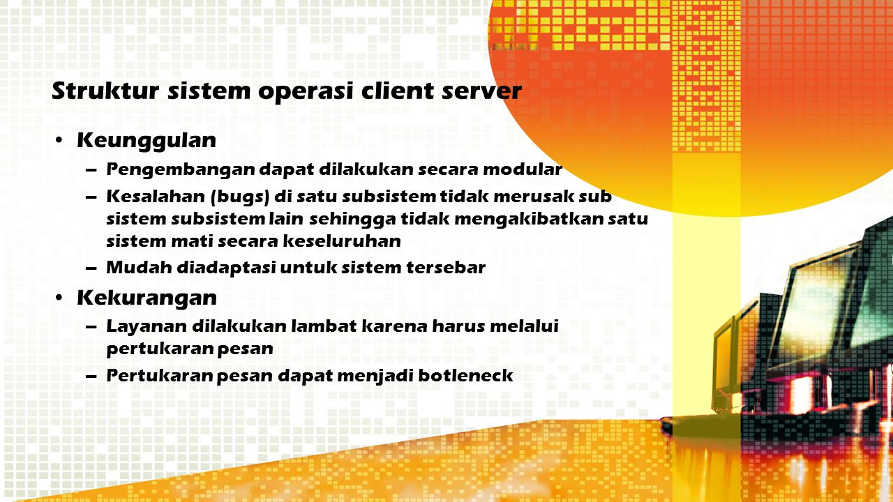 Struktur sistem operasi client server