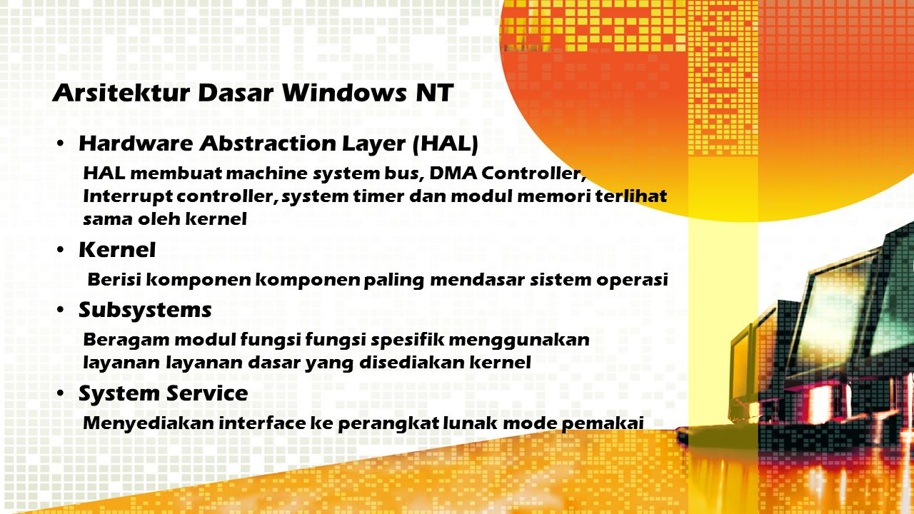 Arsitektur Dasar Windows NT