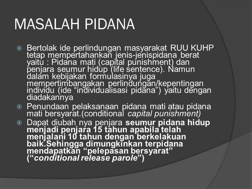 MASALAH PIDANA