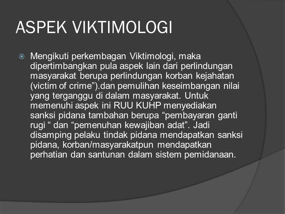 ASPEK VIKTIMOLOGI