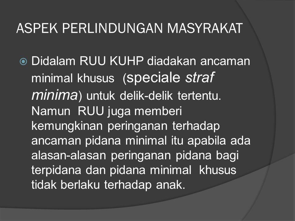 ASPEK PERLINDUNGAN MASYRAKAT