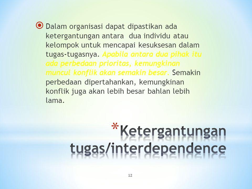 Ketergantungan tugas/interdependence
