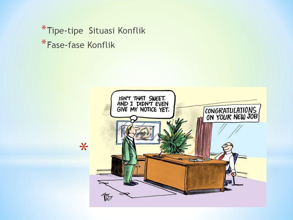 Situasi-saituasi konflik dlm organisasi