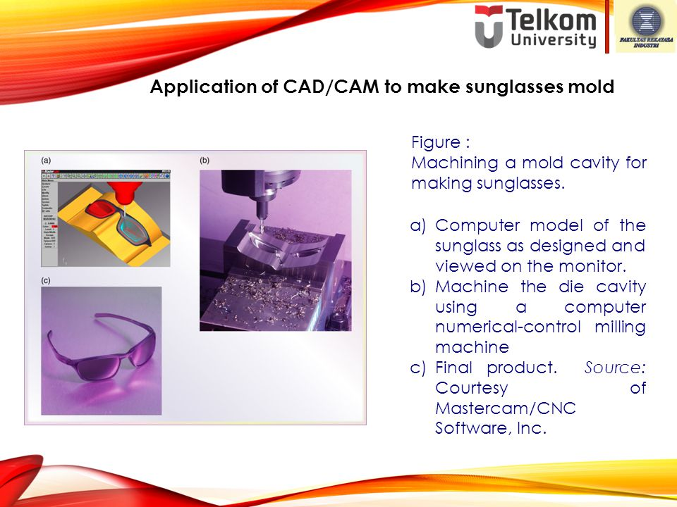 Application of CAD/CAM to make sunglasses mold