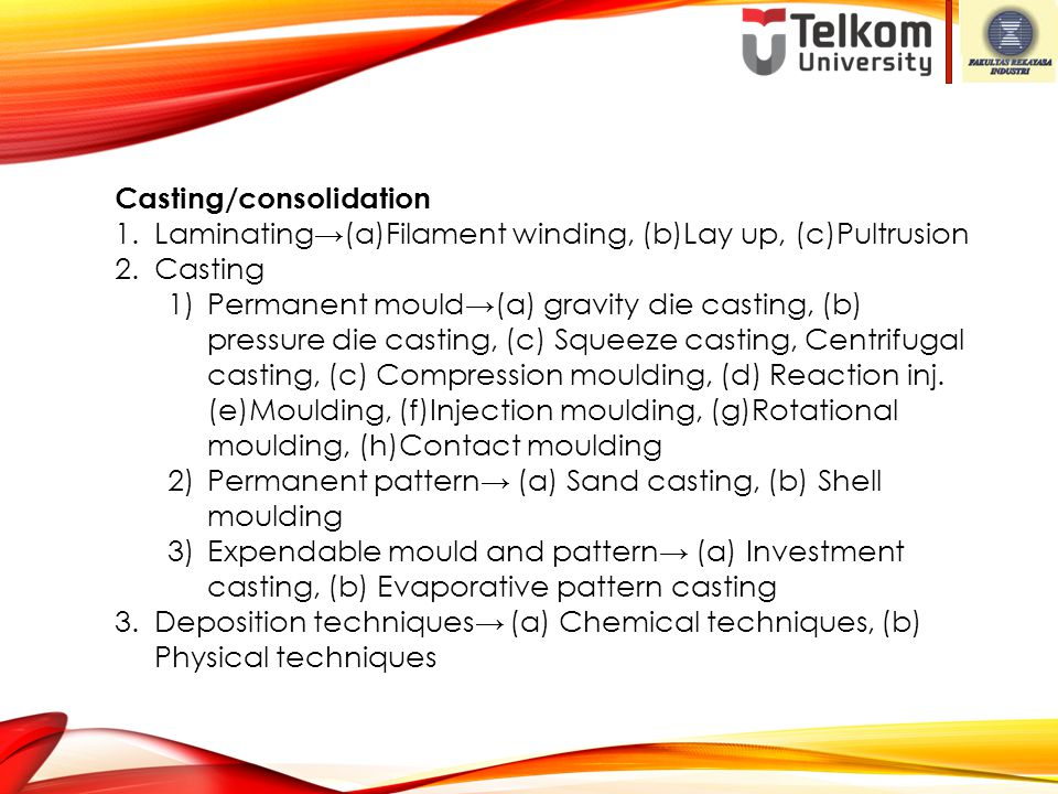 Casting/consolidation