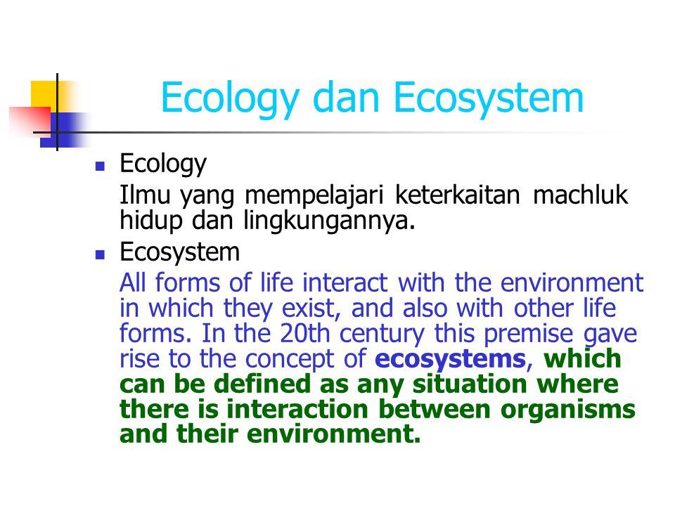 Ecology dan Ecosystem Ecology