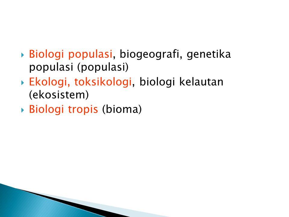 Biologi populasi, biogeografi, genetika populasi (populasi)