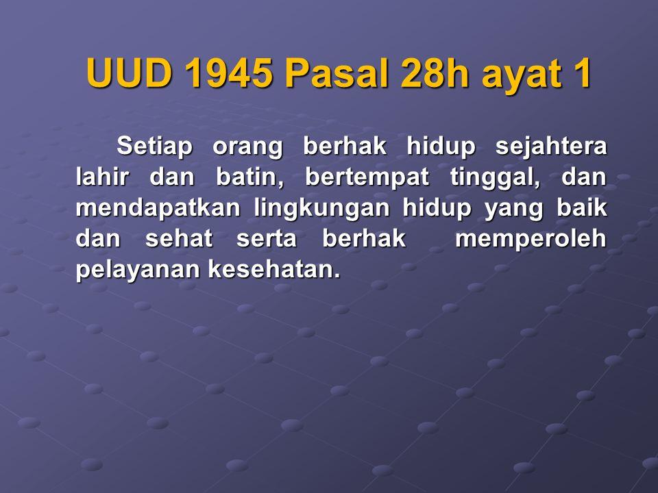 UUD 1945 Pasal 28h ayat 1