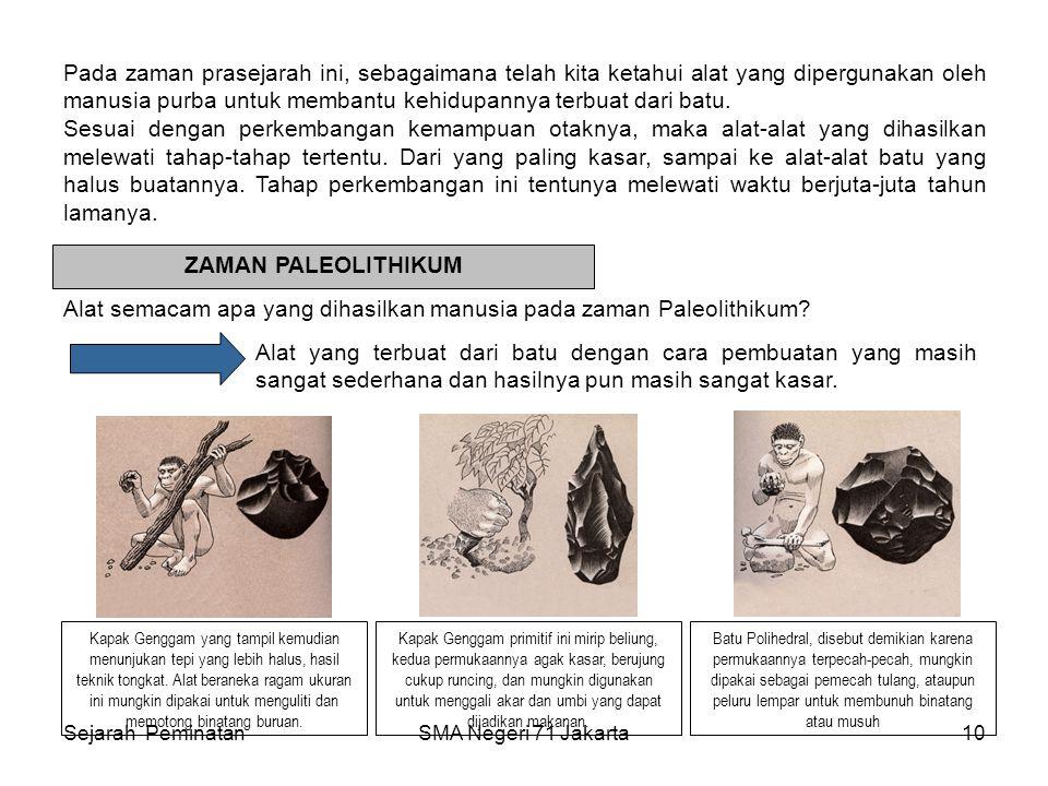 Alat semacam apa yang dihasilkan manusia pada zaman Paleolithikum
