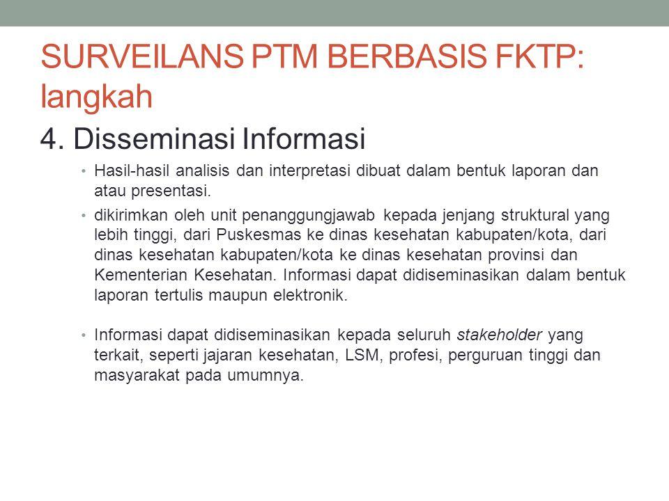 SURVEILANS PTM BERBASIS FKTP: langkah
